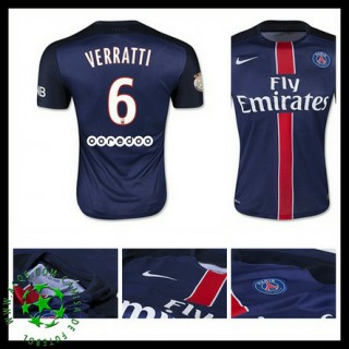 Camisa De Futebol Paris Saint Germain Verratti 2015 2016 I Masculina