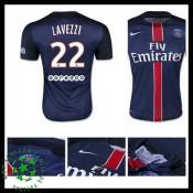 Camisas Futebol Paris Saint Germain Lavezzi 2015-2016 I Masculina