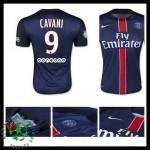 Camisas Futebol Paris Saint Germain Cavani 2015-2016 I Masculina