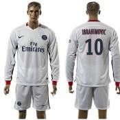 Paris Saint Germain Camisas Futebol Ibrahimovic Manga Longa 2015/2016 Ii Masculina