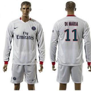 Paris Saint Germain Camisetas Di Maria Manga Longa 2015 2016 Ii Masculina