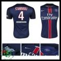 Camisa De Futebol Paris Saint Germain Stambouli 2015/2016 I Masculina