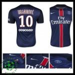 Camisa De Futebol Paris Saint Germain Ibrahimovic 2015-2016 I Masculina