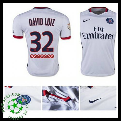 15ed9fa79b Camisa Futebol Paris Saint Germain David Luiz 2015 2016 Ii Masculina ...