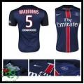 Camisas Futebol Paris Saint Germain Marquinhos 2015/2016 I Masculina