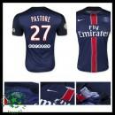 Uniformes De Futebol Paris Saint Germain Pastore 2015-2016 I Masculina