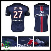 Uniformes De Futebol Paris Saint Germain Pastore 2015-2016 I Masculina