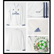 Camisa Futebol Real Madrid Manga Longa 2016-2017 I Masculina