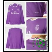 Camisetas Real Madrid Manga Longa 2016 2017 Ii Masculina df175f207cbb3