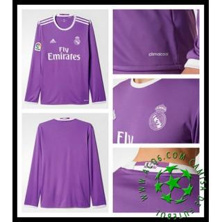 Camisetas Real Madrid Manga Longa 2016 2017 Ii Masculina