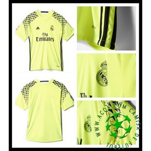 Uniformes De Futebol Real Madrid Goleiro 2016 2017 Ii Masculina ... cff27b01f7bf7