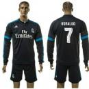 Real Madrid Camisa Du Futebol Ronaldo Manga Longa 2015-2016 Iii Masculina