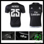 Camisa De Futebol Real Madrid (25 Pacheco) 2015-2016 I Goleiro