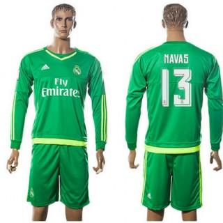 Real Madrid Camisas Futebol Navas Manga Longa 2015-2016 Ii Goleiro