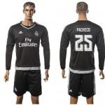 Real Madrid Camisa Futebol Pacheco Manga Longa 2015-2016 I Goleiro