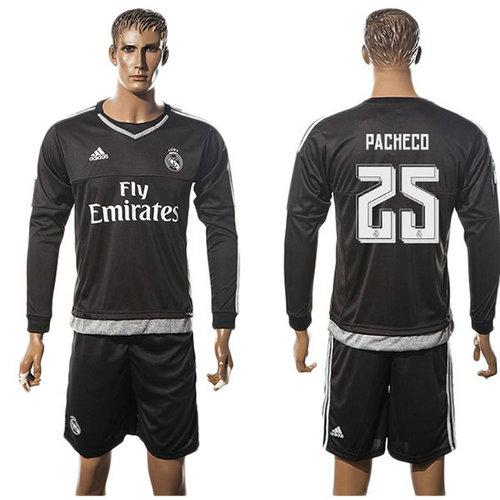cb175baa24 Real Madrid Camisa Futebol Pacheco Manga Longa 2015-2016 I Goleiro ...