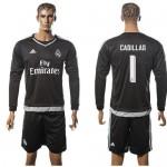Real Madrid Uniformes Futebol Iker Casillas Manga Longa 2015-2016 I Goleiro