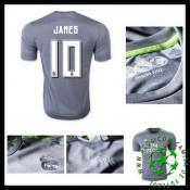 Camisas De Futebol Real Madrid (10 James) 2015 2016 Ii Masculina