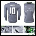 Camisa Real Madrid (10 James) Manga Longa 2015 2016 Ii Masculina