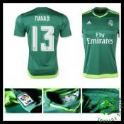 Camisa Futebol Real Madrid (13 Navas) 2015-2016 Ii Goleiro