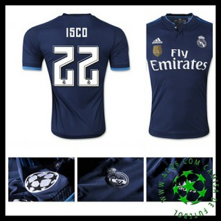 Camisa Futebol Real Madrid (22 Isco) 2015-2016 Iii Masculina