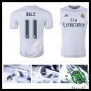 Camisas De Futebol Real Madrid (11 Bale) 2015-2016 I Masculina