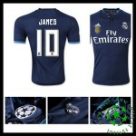 Camisas Futebol Real Madrid (10 James) 2015/2016 Iii Masculina