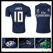Camisas Futebol Real Madrid (10 James) 2015/2016 Iii Masculina