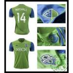 Gagné Camisas Futebol Marshall Seattle Sounders Masculina 2016/2017 I Loja On-Line