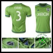 Camisa Futebol Seattle Sounders (3 Evans) 2015-2016 I Masculina