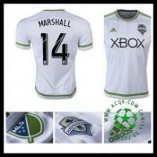 Camisa De Futebol Seattle Sounders (14 Marshall) 2015-2016 Ii Masculina