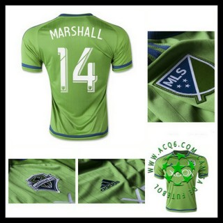 Camisas Seattle Sounders (14 Marshall) 2015/2016 I Masculina