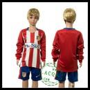 Atlético Madrid Camisa Manga Longa 2015 2016 I Infantil
