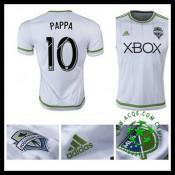 Camisa De Futebol Seattle Sounders (10 Pappa) 2015/2016 Ii Masculina