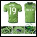 Camisa De Futebol Seattle Sounders (19 Barrett) 2015/2016 I Masculina