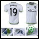 Camisas De Futebol Seattle Sounders (19 Barrett) 2015-2016 Ii Masculina