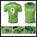 Camisetas Seattle Sounders (9 Martins) 2015-2016 I Masculina