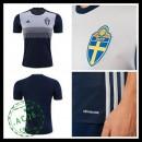Camisa Futebol Suécia Autêntico Ii Euro 2016 Masculina