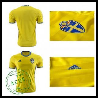 Camisas Futebol Suécia Autêntico I Euro 2016 Masculina