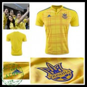 Camisa De Futebol Ucrânia Euro 2016/2017 I Masculina