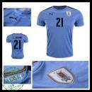 Camisa Du Futebol Uruguai E. Cavani 2016/2017 I Masculina