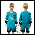Barcelona Camisa Futebol Manga Longa 2015 2016 Iii Infantil