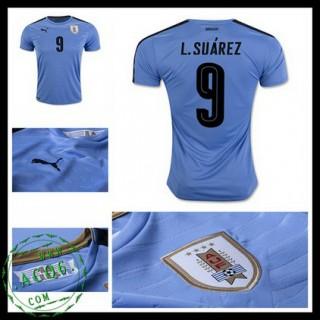 Camisas Futebol Uruguai L. Suarez 2016/2017 I Masculina