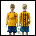 Barcelona Camisas Futebol Suarez Manga Longa 2015/2016 Ii Infantil