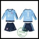 Bayern München Camisa Futebol Neuer Manga Longa Goleiro 2015/2016 I Infantil