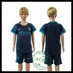 Manchester City Camisa De Futebol 2015 2016 Ii Infantil