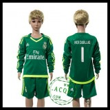 Real Madrid Camisa Iker Casillas Manga Longa Goleiro 2015 2016 Ii Infantil