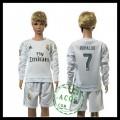 Real Madrid Camisa Ronaldo Manga Longa 2015 2016 I Infantil