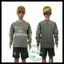 Real Madrid Camisas Du Futebol Manga Longa 2015/2016 Ii Infantil