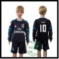Real Madrid Camisas Futebol James Manga Longa 2015 2016 Iii Infantil